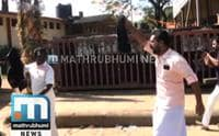 BJP Activists Wave Black Flags At Kadakampally Surendran In Erumely