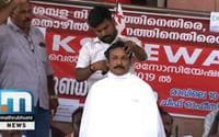KSRTC Employees Shave Heads In Protest