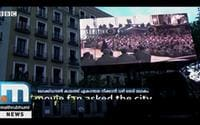 Stay Home, Enjoy Movie From Balcony; Spain Installs Big Screens In Residential Areas